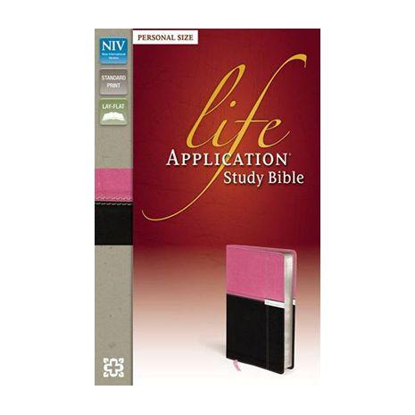 NIV Life Application Study Bible (Pink, Chocolate LeatherLike, Personal  Size)